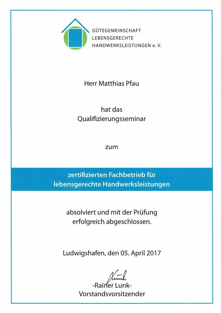 Schreiner Ludwigshafen unternehmen meisterbetrieb pfau römerberg bei speyer
